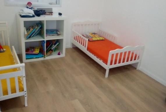 ריצוף פרקט למינציה בחדר ילדים