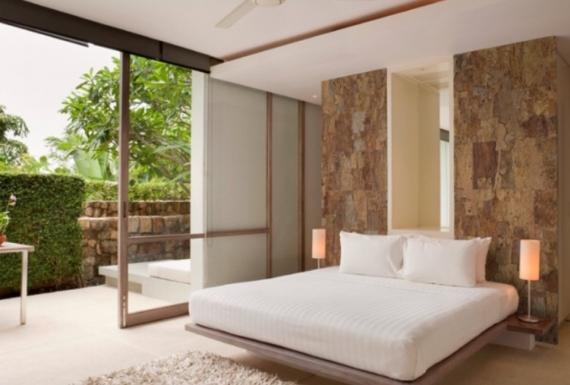 רצפת פרקט דקורטיבית לחדר שינה