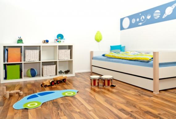 רצפת פרקט למינציה בחדר ילדים