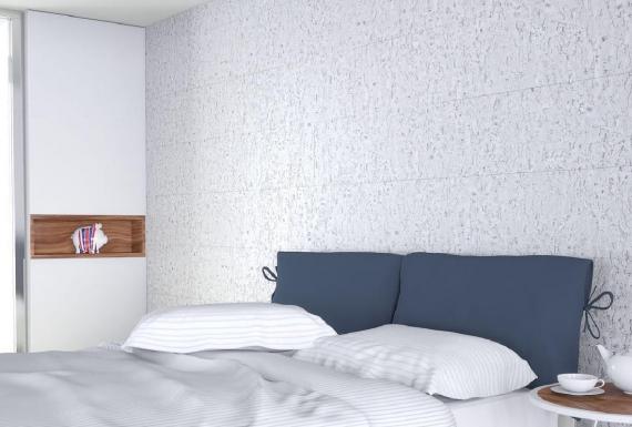 חיפוי שעם לבן לחדר שינה