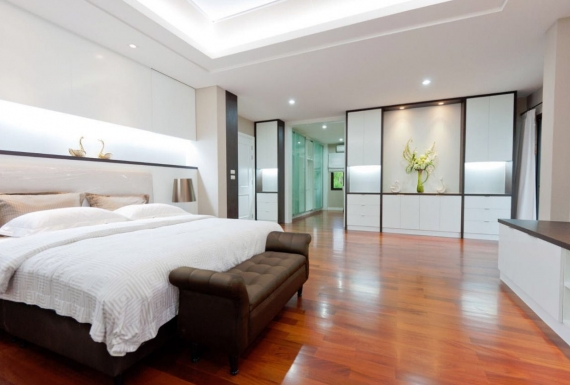 פרקט עץ לחדר שינה