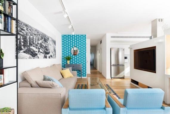 ריצוף פרקט בדירה בתל אביב