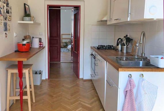 תמונות פרקט פישבון במטבח